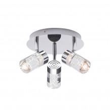 Felix Bubble 3 light LED Plate Chrome Ceiling Light