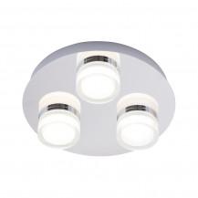 Amalfi 3 light Plate LED Flush Chrome Ceiling Light