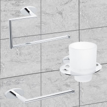 Polar 3 Piece Bathroom Accessory Pack