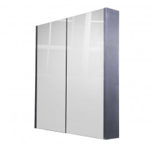 Windsor / Cuba / Aspen 60cm 2 Door Grey Mirror Cabinet