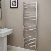 Eco Heat 1600 x 500mm Curved Chrome Heated Towel Rail