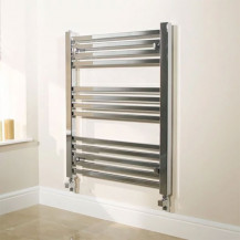 Beta Heat 800 x 600mm Square Chrome Heated Towel Rail