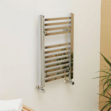 Beta Heat 650 x 400mm Square Chrome Heated Towel Rail