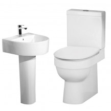 Hallmoor Close Coupled Toilet & Imperia Full Pedestal Two Piece Suite