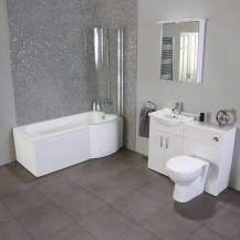 Windsor™ 55cm Right Hand Shower Bath Suite