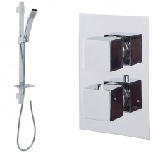 Quadro Slide Shower Rail Kit with Cube Dual Valve