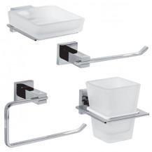 Veneto 4 Piece Bathroom Accessory Pack
