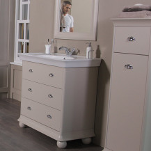 Valencia Cream 900mm 3 Drawer Vanity Unit