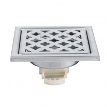 Square Brushed Steel Floor Drain