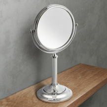 Round 150mm 7 x Magnifying Pedestal Mirror