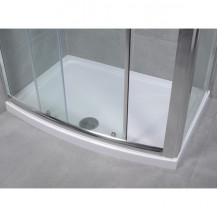 Aquafloe™ 1200 x 850 Bow Front Rectangular Shower Tray