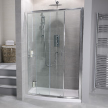 Aquafloe™ 6mm 1200 Bow Sliding Shower Door