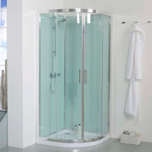 900 Quadrant Shower Cabin with Aqua White Back Panels