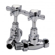 Traditional Crosshead Straight Chrome Radiator Valves
