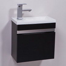 Vigo 420mm Wall Mounted Black Vanity Unit