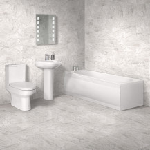 1700 x 750 Maine Alton Straight Bath Suite