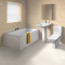 1700 x 750 Austin Chiltern Straight Bath Suite