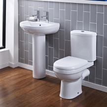 Albury Two Tap Short Projection Bathroom Suite