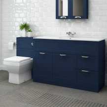 Nottingham 1000 Indigo Blue Combination Unit with Tabor Back to Wall Toilet