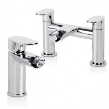 Cirque Waterfall Basin Mixer and Bath Filler Tap Pack