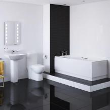 1680 Mono Veneto Bathroom Suite with Taps