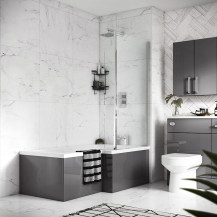 Hudson Reed Amelia  Right Hand L Shaped Bath 1700 with Eternalite