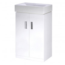 Premier Cloakroom Packs Checkers White 450 Floor Standing Basin Unit