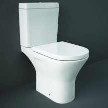 RAK Resort Short Projection Rimless Close Coupled Toilet with Soft Close Seat