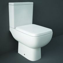 RAK Series 600 Close Coupled Toilet with Slim Wrap Over Soft Close Seat