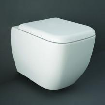 RAK Metropolitan Rimless Wall Hung Toilet with Soft Close Seat