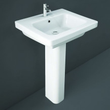 RAK Resort 550mm 1TH Basin and Full Pedestal