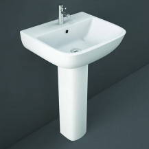 RAK Series 600 1TH 520mm Basin and Full Pedestal