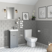 Nottingham 400 Grey Vanity Unit with Tabor Close Coupled Toilet