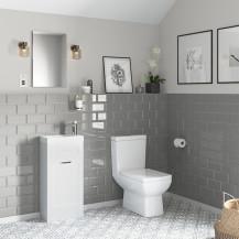 Nottingham 400 White Vanity Unit with Tabor Close Coupled Toilet