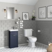 Nottingham 400 Indigo Blue Vanity Unit with Park Royal Close Coupled Toilet