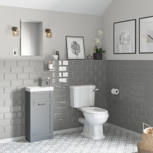 Nottingham 400 Grey Vanity Unit with Park Royal Close Coupled Toilet