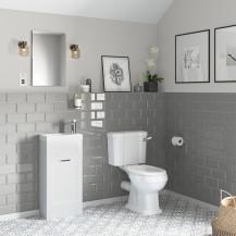 Nottingham 400 White Vanity Unit with Park Royal Close Coupled Toilet