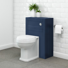 Nottingham Indigo Blue WC Unit with Park Royal Back to Wall Toilet
