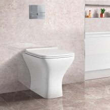 Austin Back to Wall Toilet with Slim Soft Close Seat with Concealed Cistern