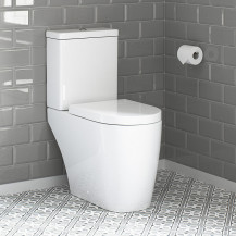 Newport Close Coupled Toilet with Soft Close Seat With Pan Connector