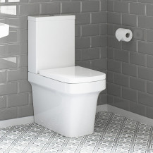 Toronto Close Coupled Toilet with Soft Close Seat With Pan Connector