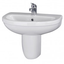 Premier Ivo 550mm Basin 1TH & Semi Pedestal