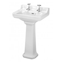 Premier Carlton 560mm 2TH Basin & Pedestal