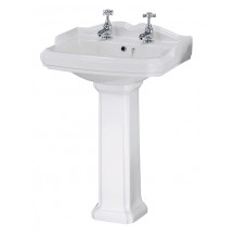 Premier Legend 580mm 2 TH Basin & Pedestal