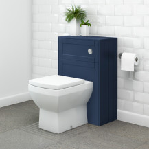 Nottingham Indigo Blue WC Unit with Tabor Back to Wall Toilet