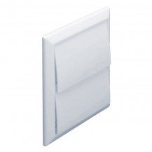 Square Flap Vent White 100mm (round outlet)