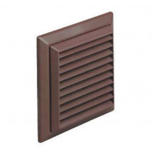 Louvre Vent and Flyscreen Brown 100mm (round outlet)