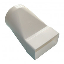 Flat Channel Standard Adaptor Round 100mm to rectangular 110 x 54mm  White