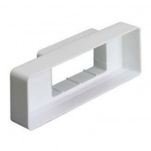 Flat Channel  Adaptor Round 100mm to Airbrick - white