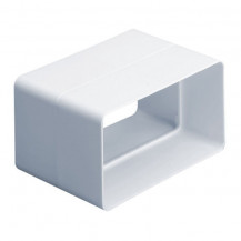 SUPERTUBE 125 rectangular channel connector - white